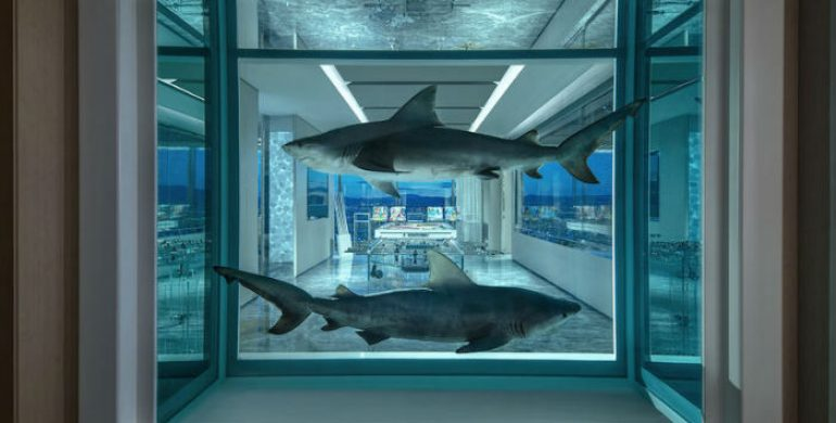 Damien Hirst's Empathy Suite in The Palm's Hotel in Las Vegas in the most expensive in the world