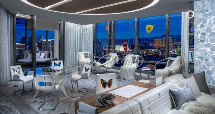 Damien Hirst's creation within the Nevada hotel features six original pieces inspired by his earlier work