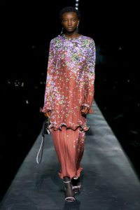 Givenchy aw19 fw19 floral trend plisse