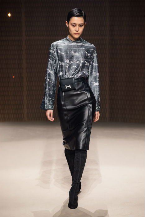 Hermes leather and silk trend ae19 fall 2019 ready to wear paris fashion week