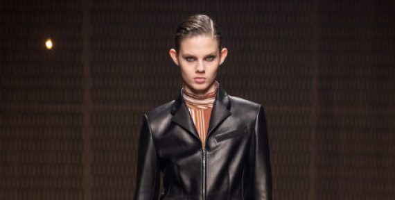 Hermes ready to wear autumn fall 2019 leather look black trend