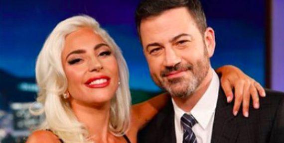 Lady Gaga wears Khyeli on Jimmy Kimmel