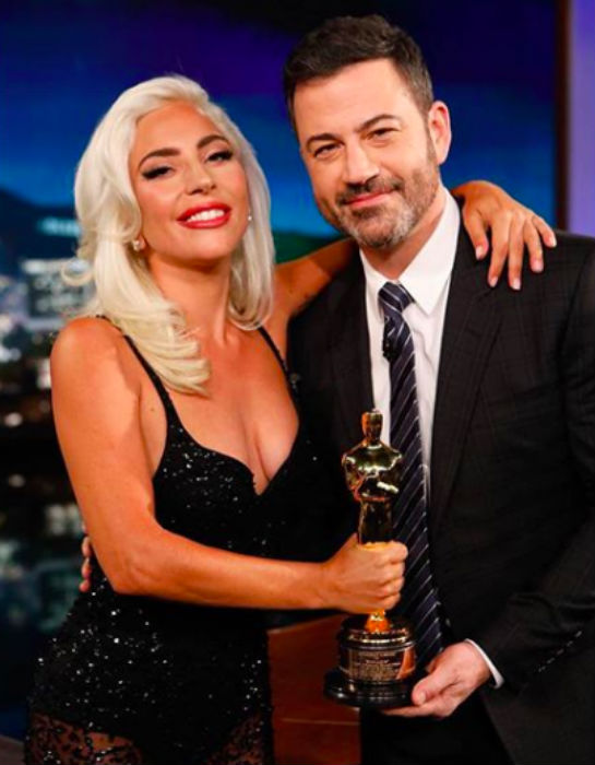 Lady Gaga wears Khyeli on Jimmy Kimmel