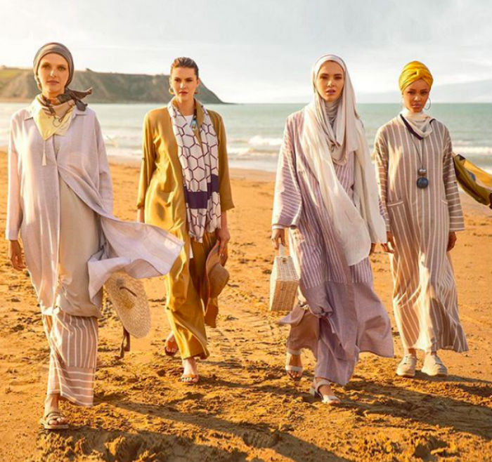 Halima Aden has teamed up with online fashion brand Modanisa for the collection