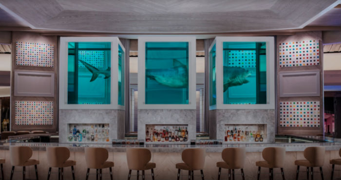 Previously, Palms in Las Vegas featured Damien Hirst's dissected shark art in the bar area