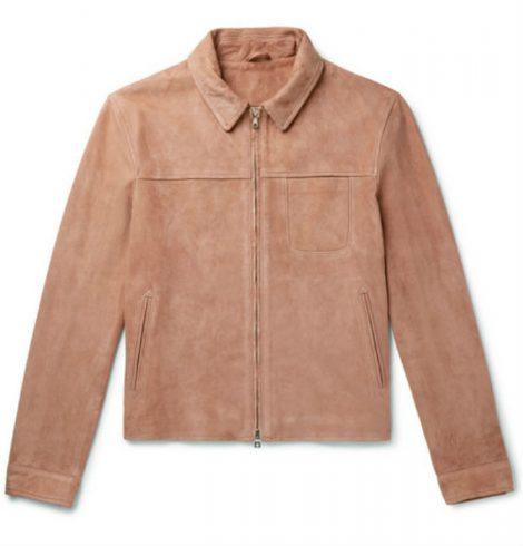Slim-Fit Suede Blouson Jacket Mr P