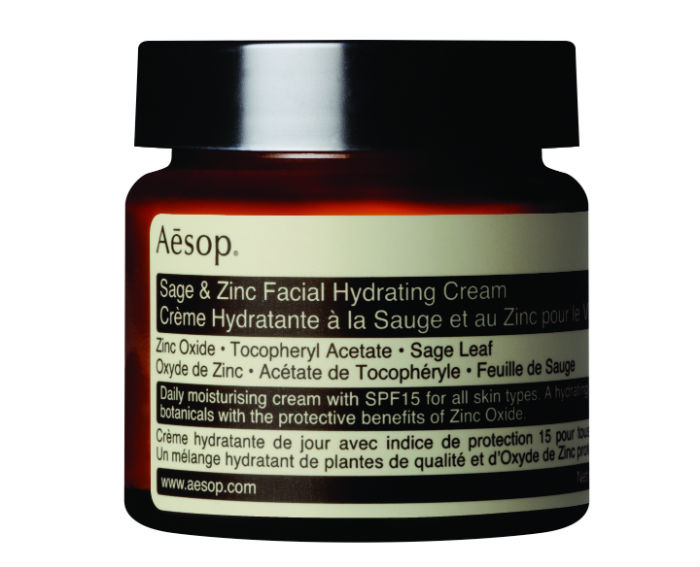 Aesop also cary a Sage & Zinc day cream with an SPF 15