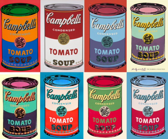 A dinner themed around Pop Artist Andy Warhol's relationship with food