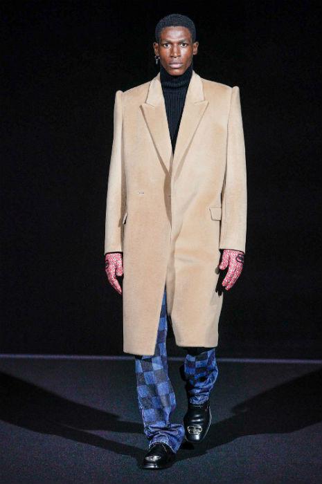 Balenciaga PFW FW19 AW19 mens collection check denim jeans