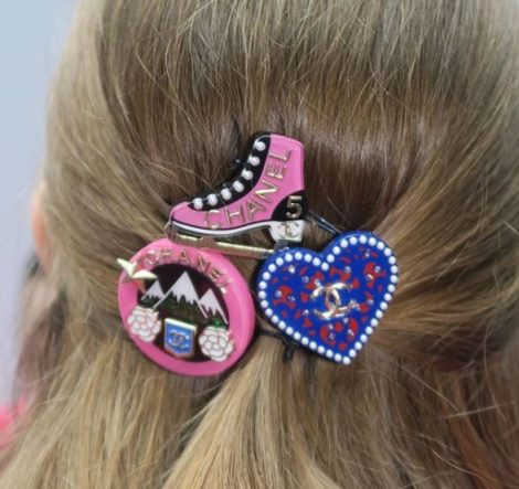 chanel aw19 hair accessories colourful clips