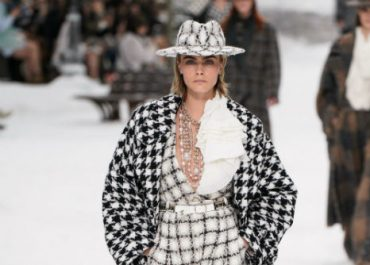 Cara Delevingne models Karl Lagerfeld's final collection for Chanel