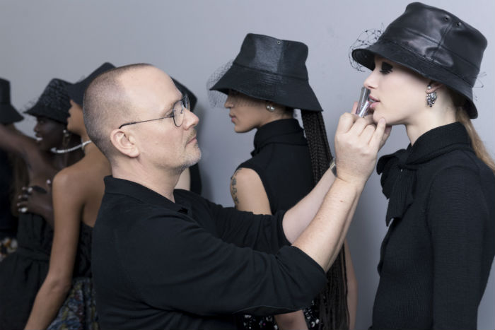 dior backstage beauty how to peter Philips twiggy eyes