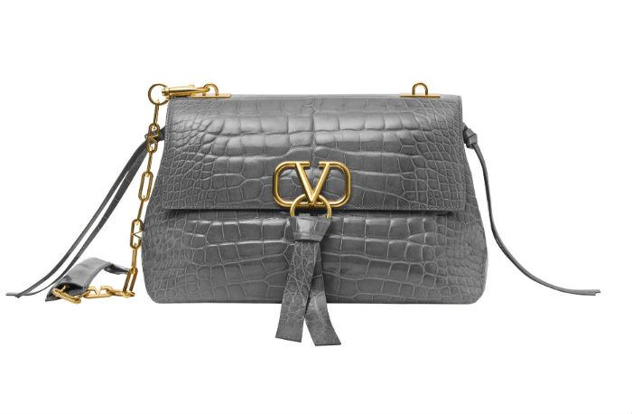 New Valentino bag in pebble grey