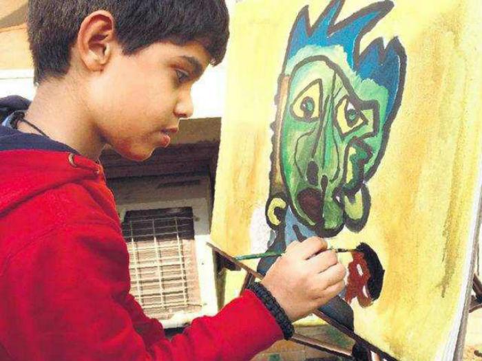 Aarav Verma s the youngest artist on display at World Art Dubau