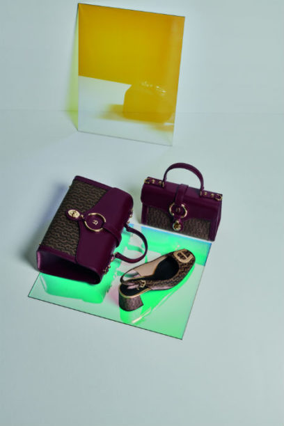 Aigner ss19 purple bag and shoes