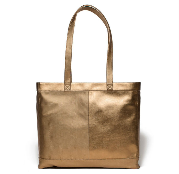 JIll Milan Tiburon Gold Tote Bag Vegan Leather