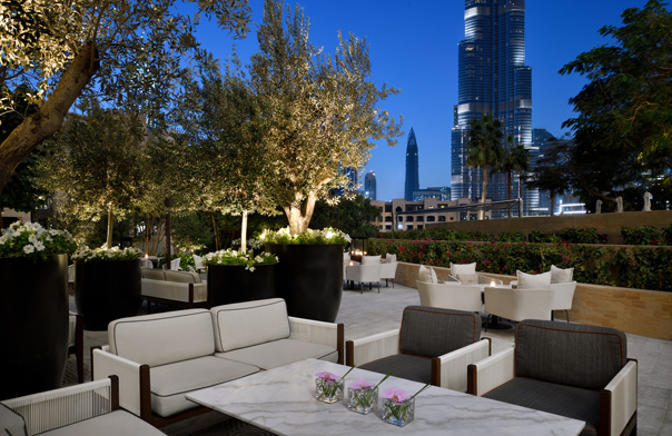 Secret Garden in the Address Downtown offers incredible views of the Burj Khalifa