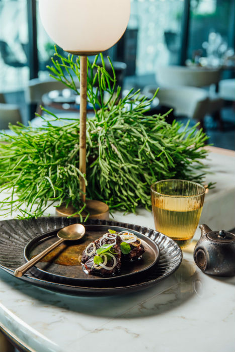 Both the menu and the scenery will bring you back to nature at The London Project