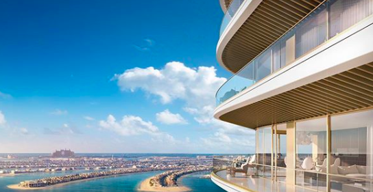View from the new Elie Saab x Emaar Beachfront residences