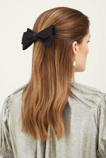1 matches kennedy bow shaped cotton faille hair clip emilia wickstead