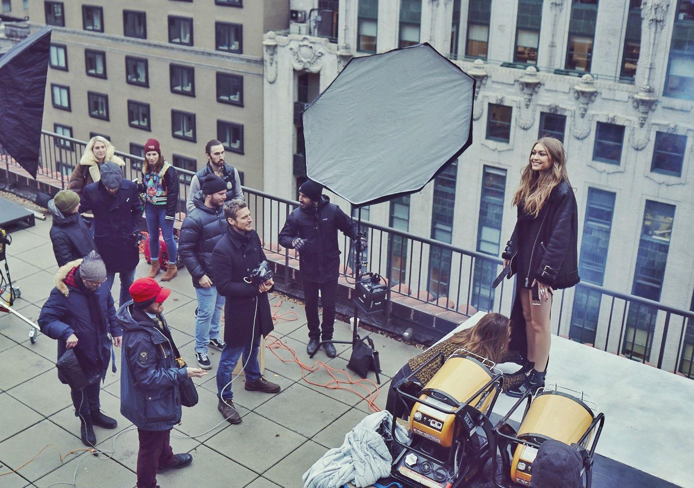 Alexi Lubomirski shooting Gigi Hadid for Maybelline