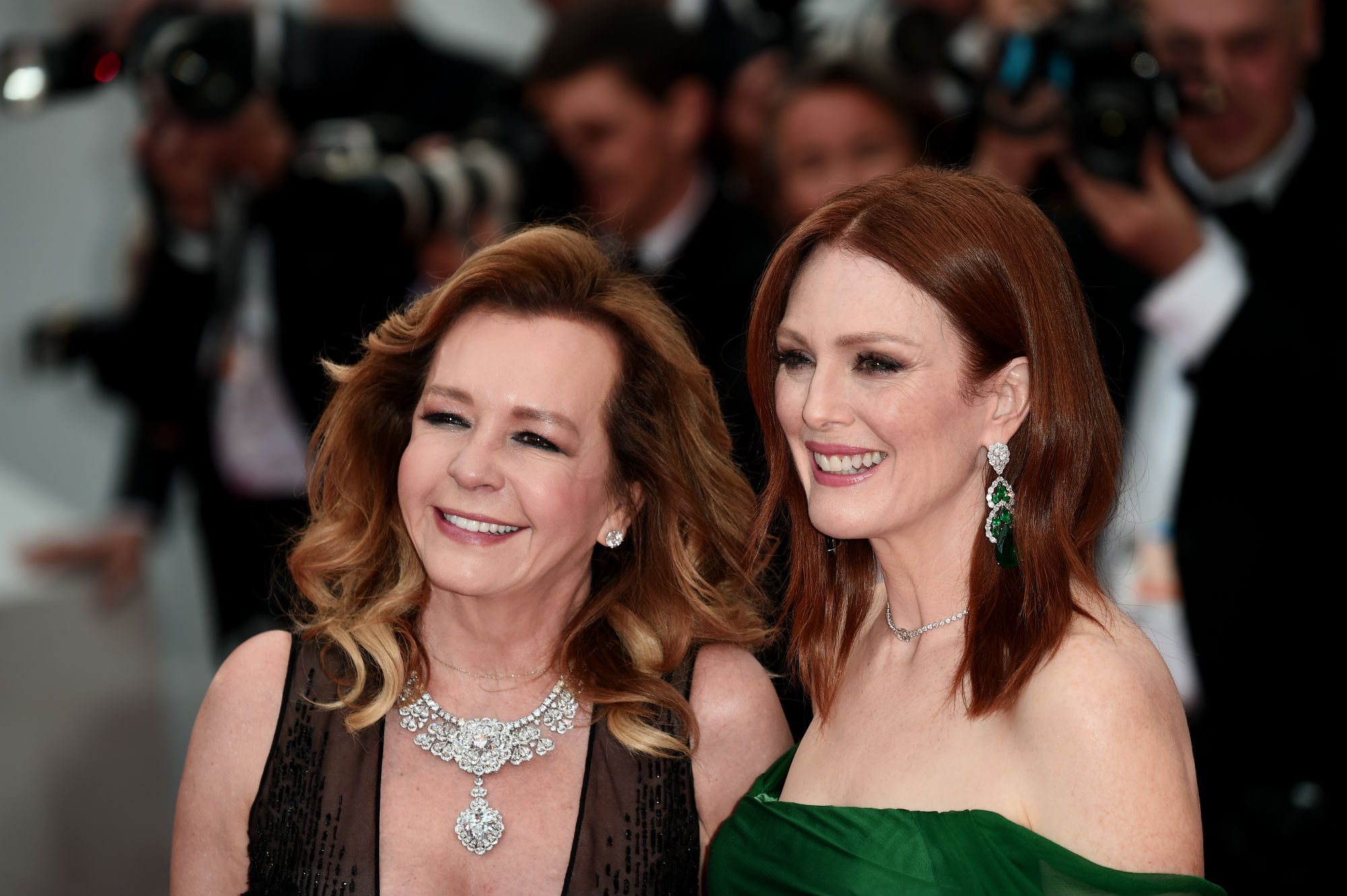 Caroline Scheufele and Julianne Moore wear Chopard jewellery during Cannes Film Festival 2019
