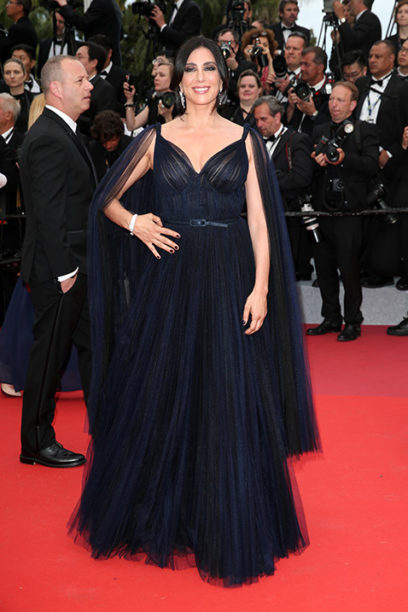 Lebanese film director Nadine Labaki dress in Dior at the Cannes Film Festival for 2019