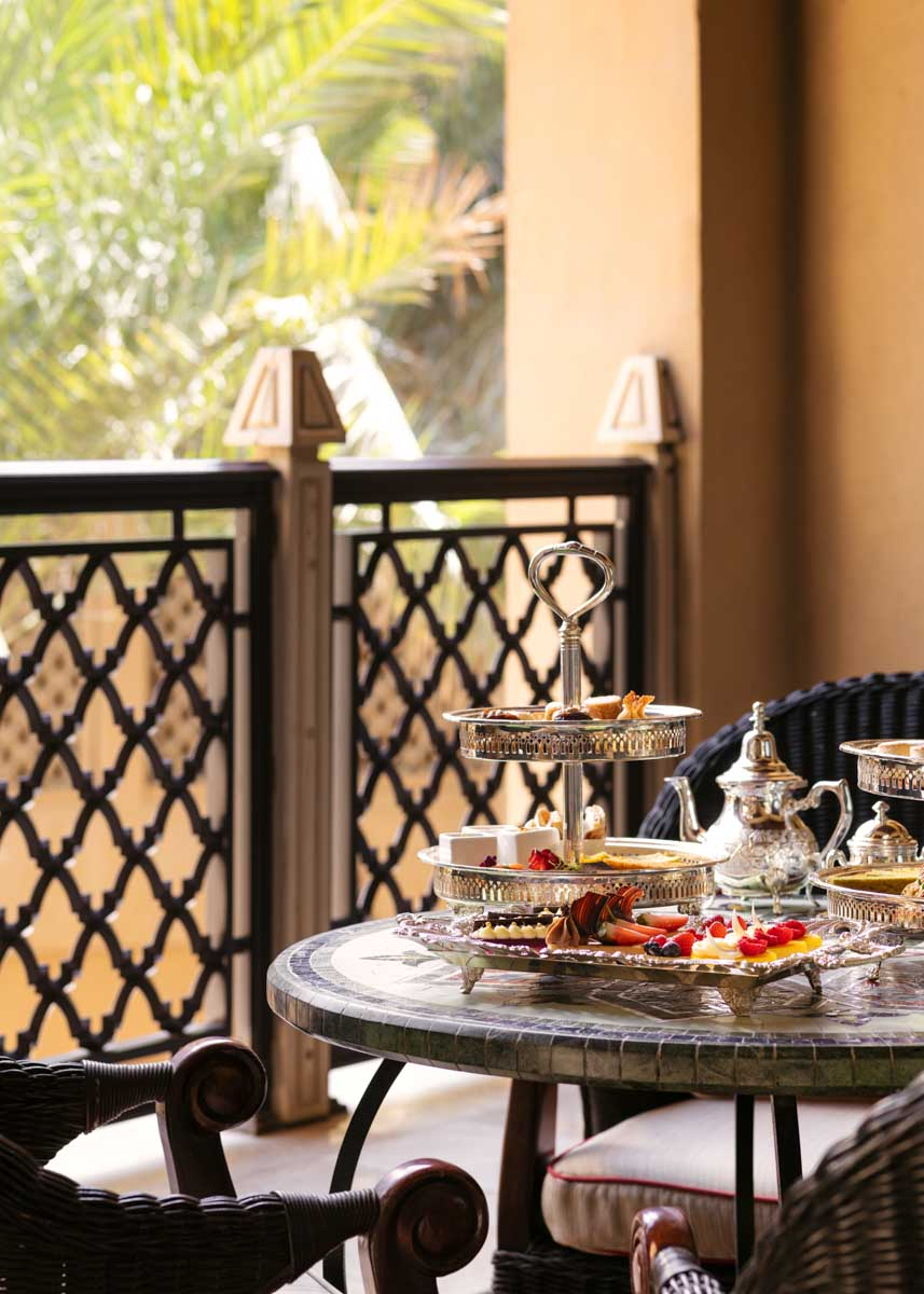 Enjoy an afternoon tea with this package from One&Only Royal Mirage