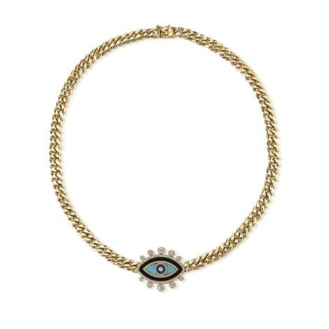 The Last Line - Curb Link Chain Enamel Eye - AED60553