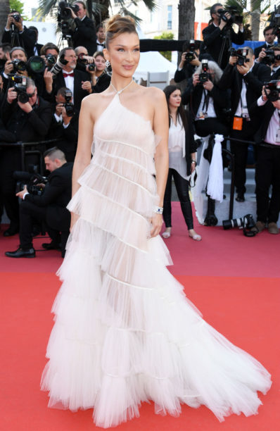 bella hadid dior hautec outure at cannes 2019