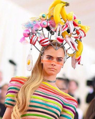 cara delevingne hair makeup met gala 2019