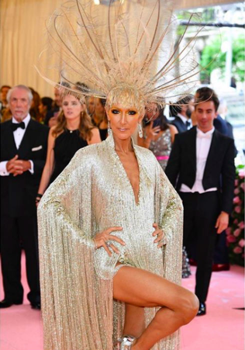Celine Dion at Met Gala 2019