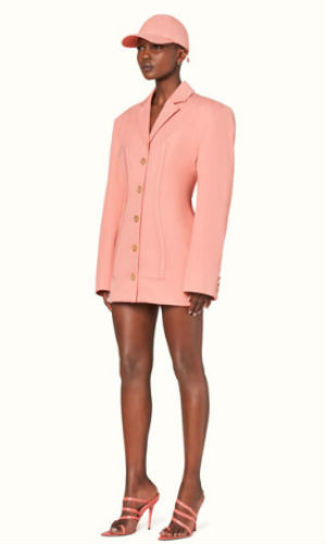 corset blazer dress in marjan rose