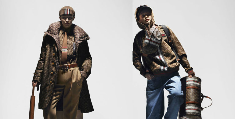 Gigi Hadid takes on four personalities as sh models her first collection for Burberry