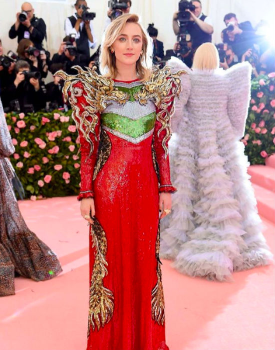 Saoirse Ronan in Gucci at Met Gala 2019