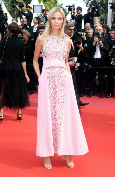 sasha luss in chanel at cannes