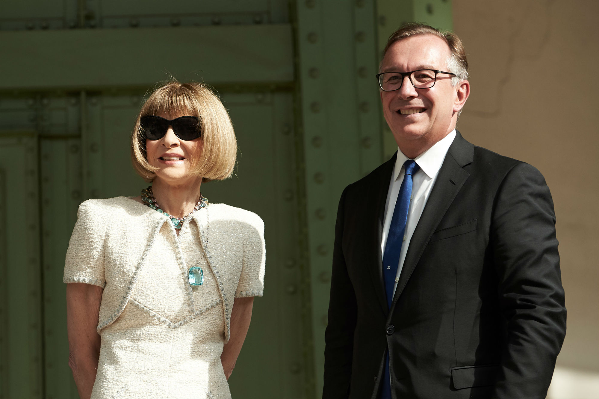 Anna Wintour and Bruno Pavlovsky attended the tribute put on by Chanel, Karl Lagerfeld and Fendi