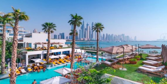 The main pool at FIVE Palm Jumeirah