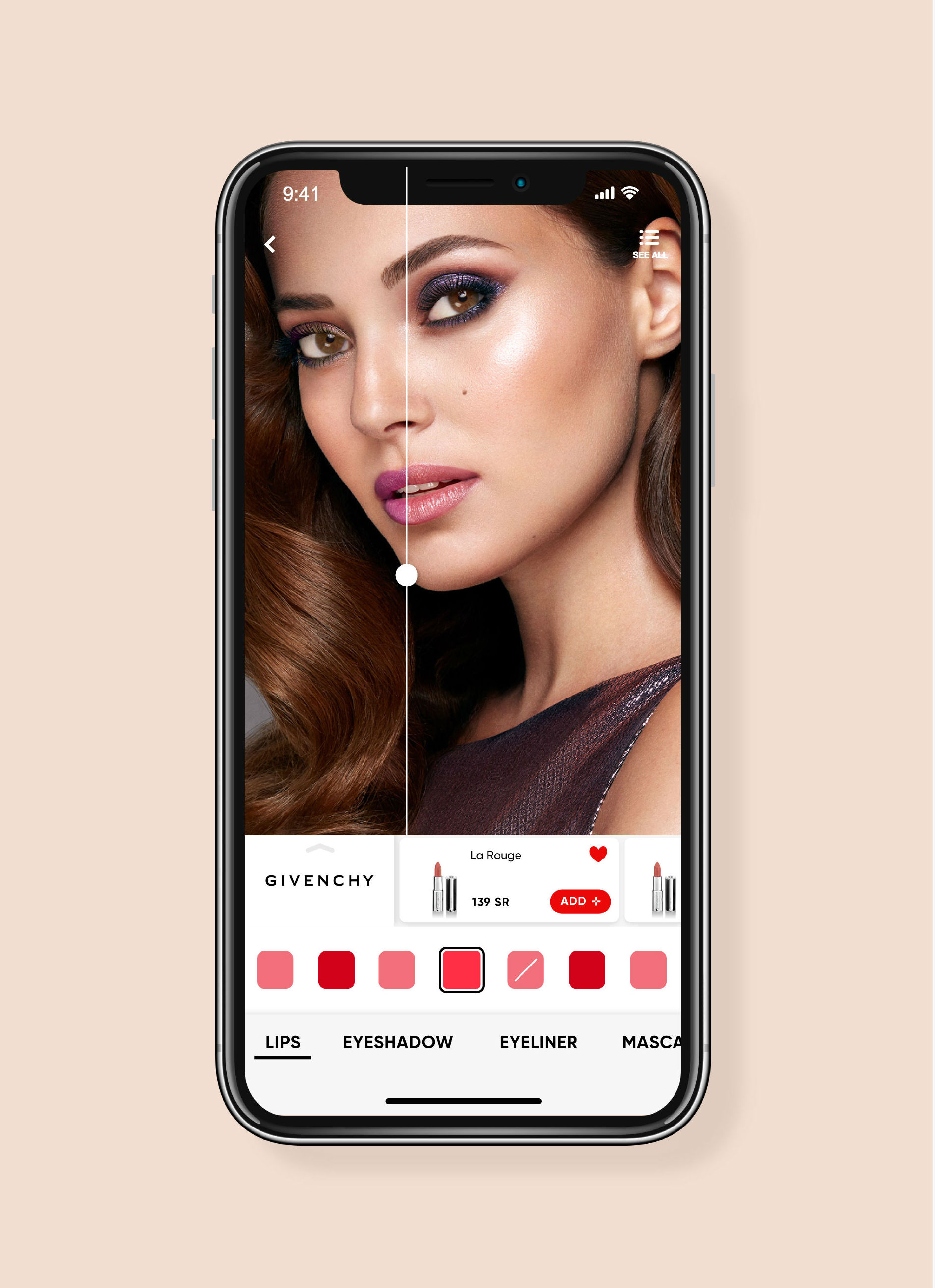 Beauty app Golden Scent allows you to try makeup before you buy