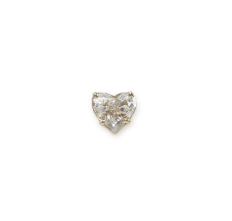 The Last Line - Diamond Heart Stud - AED12250