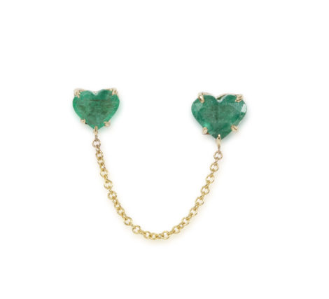 The Last Line - Emerald Heart Connected Studs - AED12361