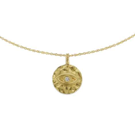 The Last Line - Evil Eye Pendant Necklace - AED4023 - 2