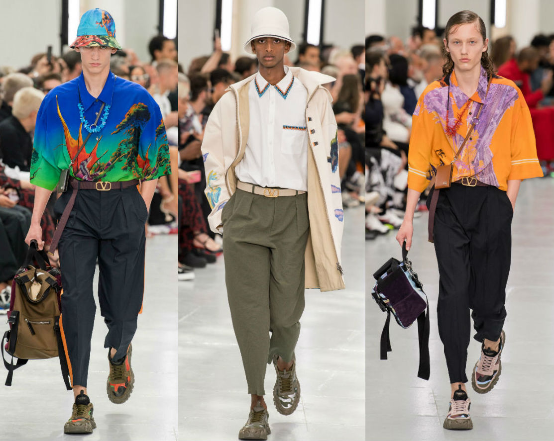 See Valentino's Menswear Collection as showcased during Paris Fashion Week for Spring 2020