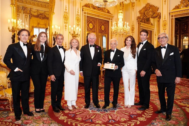 Ralph Lauren accepted the honorary knighthood from Prince Charles at Buckingham, Palace on June 19th, 2019