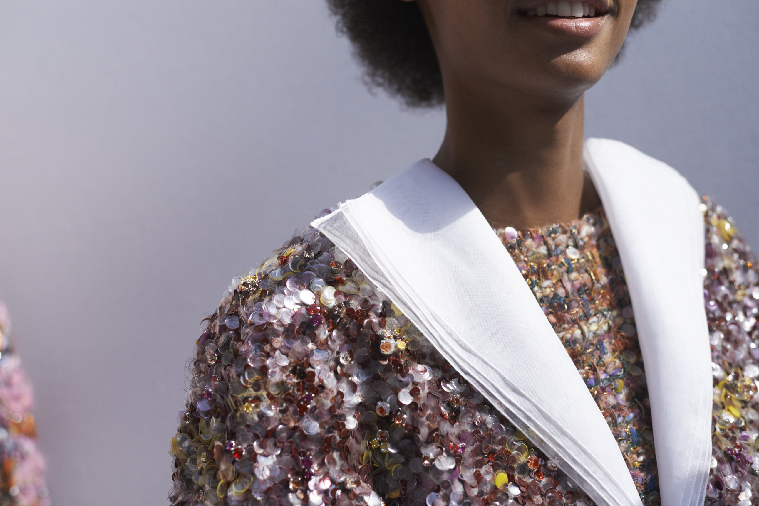Close up from Chanel's AW19 runway collection