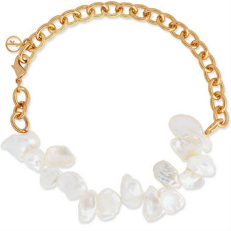 1 Anissa Kermiche Two Faced Shelley Gold-Plated Pearl Anklet Net-A-Porter