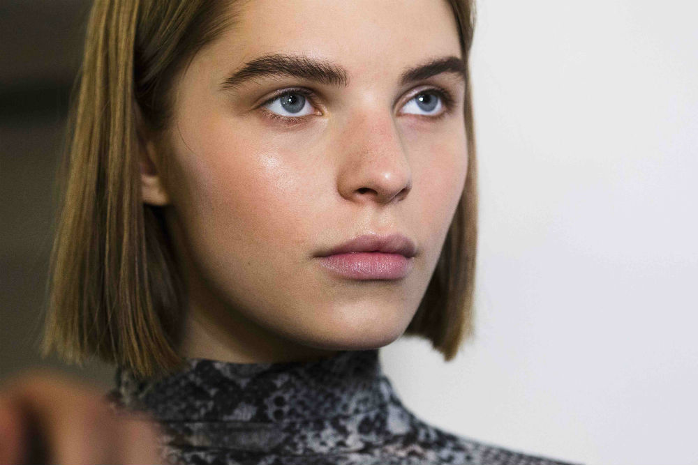 Models are the Stella McCartney Spring 2020 show showcase glowing, natural makeup