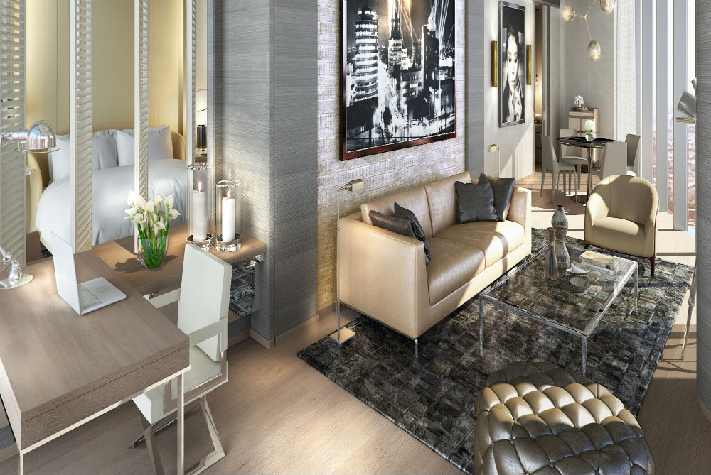 Silver Screen Suite in the upcoming Paramount Dubai Hotel