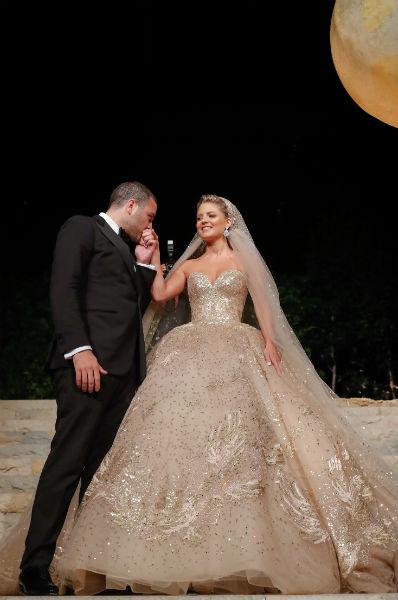 6 elie saab jr christina mourad wedding dress After Party Elie&Christina 19