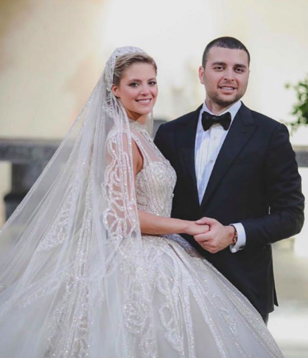 Congratulations to the happy couple, Christina Mourad and Elie Saab Jr